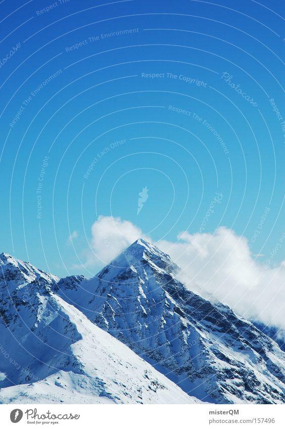 Weit über Null. Himmel Natur blau Ferien & Urlaub & Reisen Winter Berge u. Gebirge hoch Ausflug Reisefotografie Ziel Alpen Aussicht Vertrauen Gipfel Wissenschaften Alpen