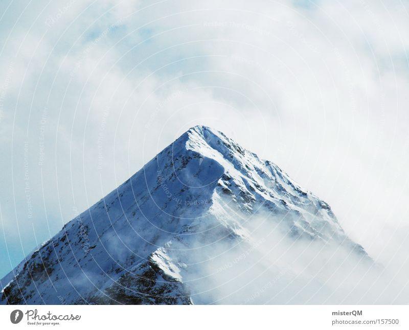 Das ist ja wohl der Gipfel. Himmel Natur blau Ferien & Urlaub & Reisen Winter Berge u. Gebirge hoch Ausflug Ziel Alpen Aussicht Wissenschaften Österreich