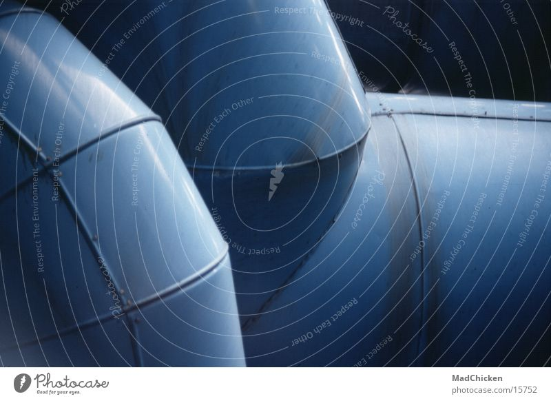 Abstraction bleu blau Architektur Design Europa Paris Röhren Frankreich Pipeline Lüftung Moderne Architektur Centre Pompidou