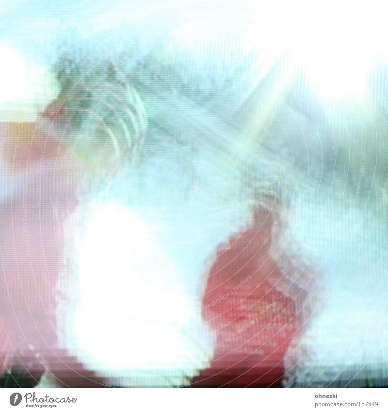 Skisprungtrainer bei der Arbeit Mensch Sonne Spielen Fernseher Fernsehen Skier blenden grell Überbelichtung Trainer