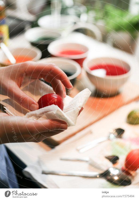 Eier färben 1 Lifestyle Freude Freizeit & Hobby Basteln malen Kind Mädchen Junge Frau Jugendliche Kindheit Leben Hand Mensch Schalen & Schüsseln