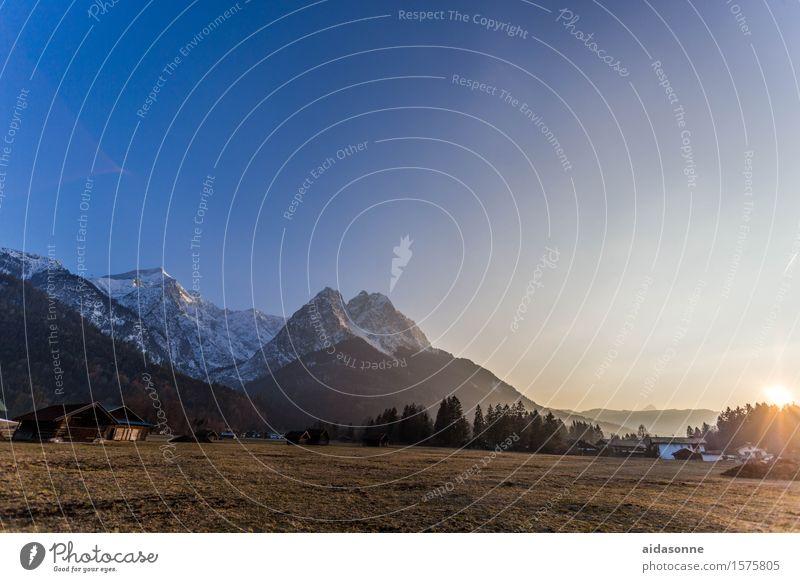 Grainau Landschaft ruhig Berge u. Gebirge Gefühle Frühling authentisch Schönes Wetter Alpen Gelassenheit Bayern Vorsicht geduldig achtsam
