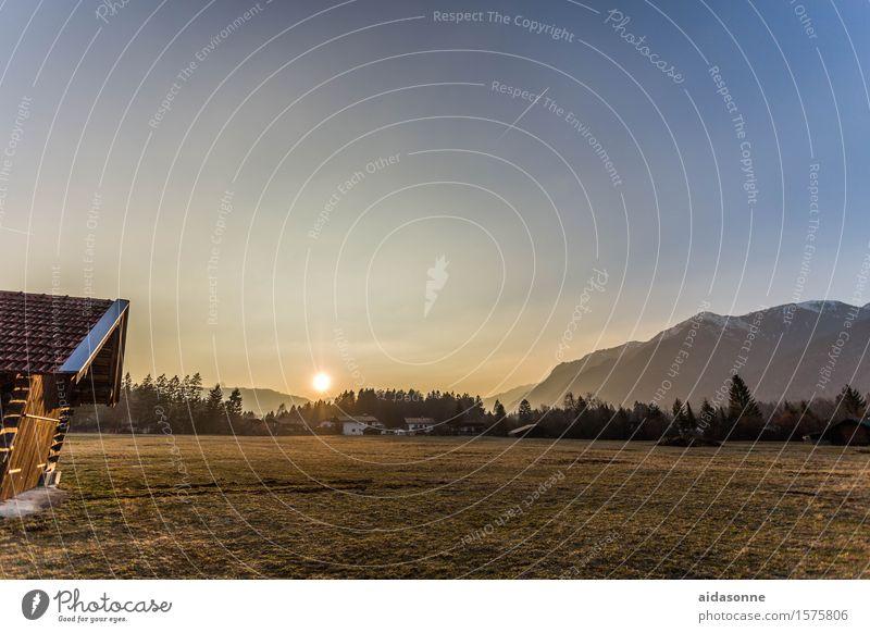 grainau Landschaft Sonnenaufgang Sonnenuntergang Schönes Wetter Alpen Berge u. Gebirge Gefühle Stimmung Zufriedenheit Lebensfreude Gelassenheit ruhig Bayern
