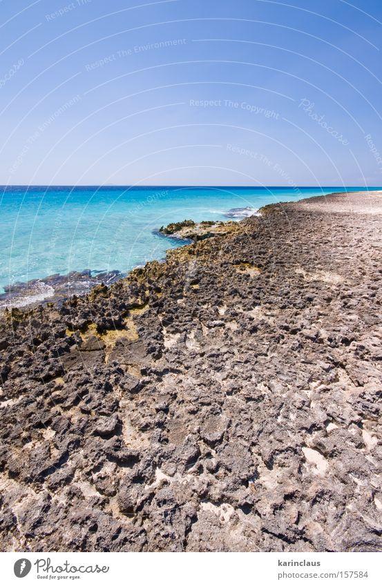 Wasser Himmel Meer blau Strand Wolken Stein Küste Horizont Felsen türkis Kleine Antillen tropisch