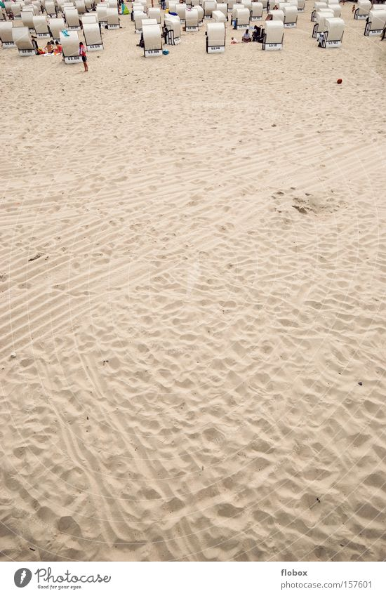 Oberes Sechstel Strand Küste Meer Ostsee Nordsee Rügen Sand Strandkorb Sylt Insel Ferien & Urlaub & Reisen Tourismus Wüste Sandstrand Sommer