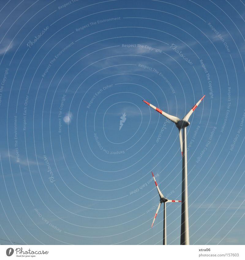 auf der fahrt vom berlin usertreffen Windkraftanlage Elektrizität Energie Himmel Sommer graphisch Dinge groß und klein