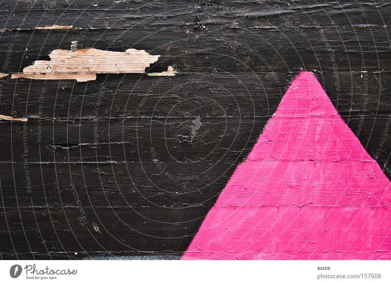 Himalaja Lifestyle Stil Design Mauer Wand Holz Zeichen alt eckig einfach Spitze trocken braun rosa Verfall Vergangenheit Vergänglichkeit Holzwand Holzbrett