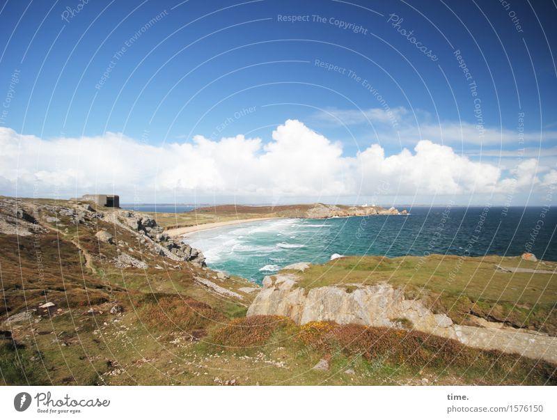 Fernweh Himmel Natur schön Meer Landschaft Wolken Umwelt Leben Wege & Pfade Herbst natürlich Küste Zeit Felsen Horizont Wellen
