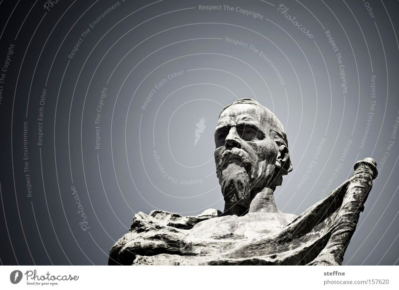 König zett Himmel Kunst Italien Statue Denkmal Wahrzeichen Held Sehenswürdigkeit Ritter Ritterstatue Philosoph Idol Verona