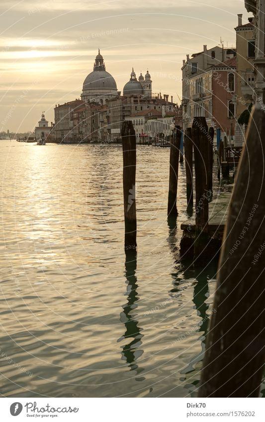 Venedig-Klassiker, Hochformat Ferien & Urlaub & Reisen Tourismus Sightseeing Städtereise Kreuzfahrt Wasser Wolken Frühling Schönes Wetter Küste Italien Veneto