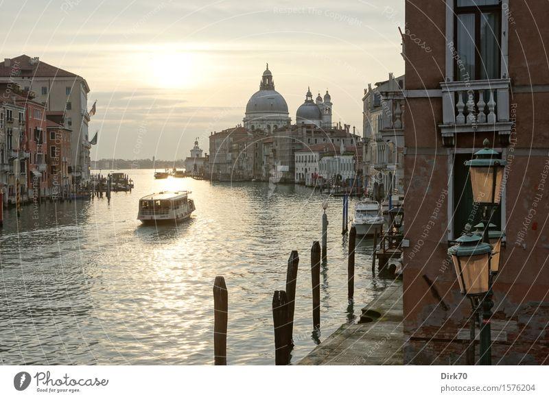Venedig-Klassiker, Querformat Ferien & Urlaub & Reisen Tourismus Sightseeing Städtereise Wasser Sonnenaufgang Sonnenuntergang Frühling Schönes Wetter Kanal