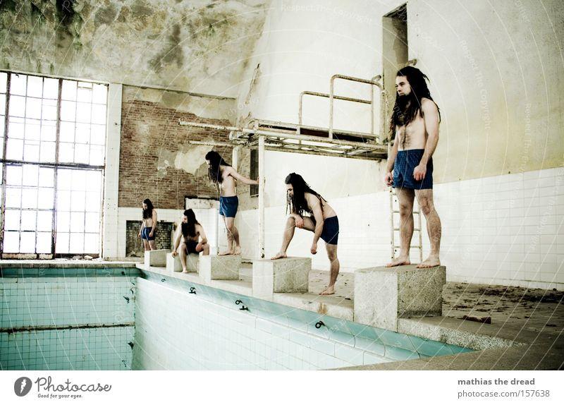 MICHAEL PHELPS DER II Mensch Mann alt mehrere Schwimmbad Konzentration verfallen viele Sportveranstaltung Halle Konkurrenz Wassersport Sport Startblock Inszenierung