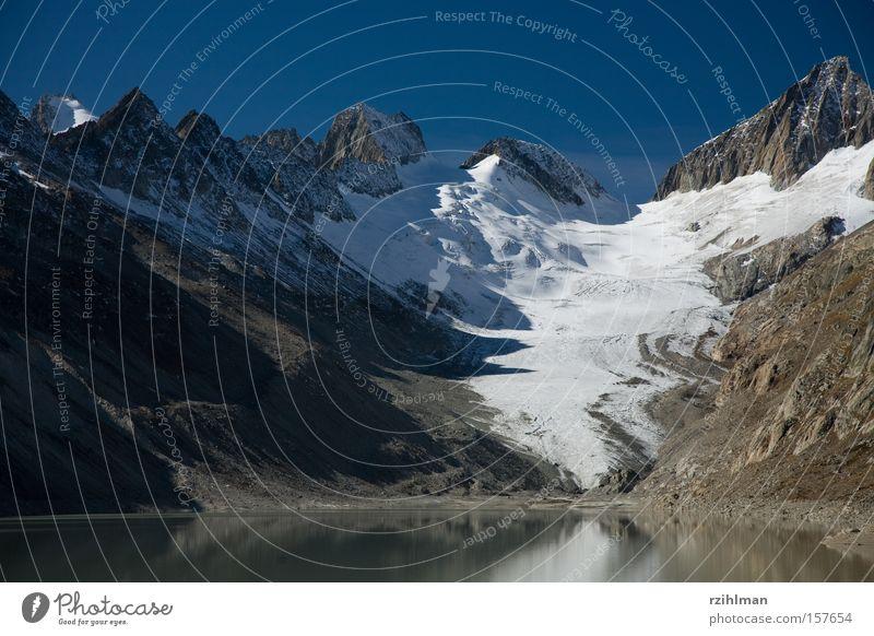 Oberaargletscher Berge u. Gebirge Hügel Gipfel Gletscher Bergkette Bergkamm Kanton Wallis Stausee Grimsel Pass