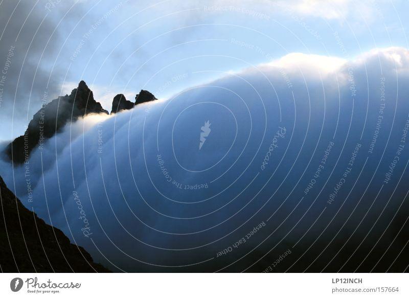 Mutti die Milch kocht über... Ferien & Urlaub & Reisen Sommer Berge u. Gebirge wandern Natur Landschaft Wolken Klimawandel Unwetter Nebel beobachten