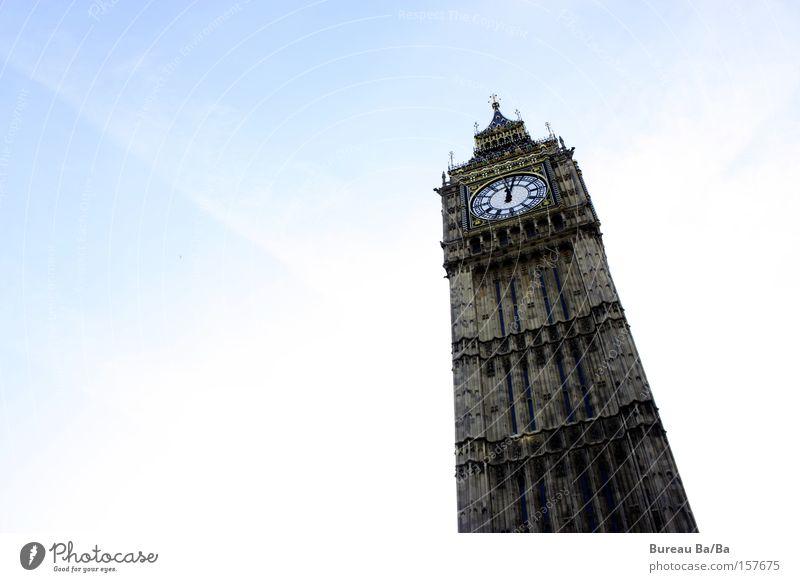 Grosser Benjamin Sonne blau Turm London England Großbritannien Big Ben Westminster Abbey
