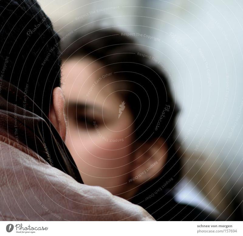 entrückt Frau Mensch Mann schön Gesicht Haare & Frisuren Rücken Rücken Italien Porträt Jacke