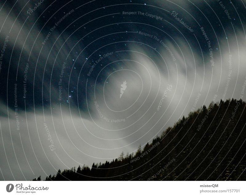 Stars Will Show You The Way. Stern Wolken Bewegung Wege & Pfade dunkel Konzentration Langzeitbelichtung Sternbild Weltall Kraft Nacht Wissenschaften