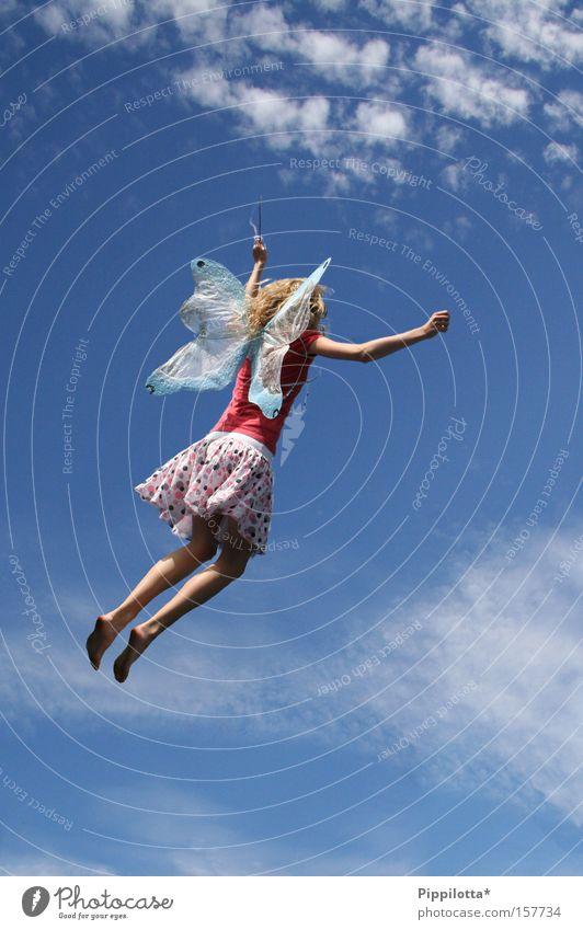 F(R)EE Fee süß rosa Himmel Schmetterling frei Freude fliegen Flügel