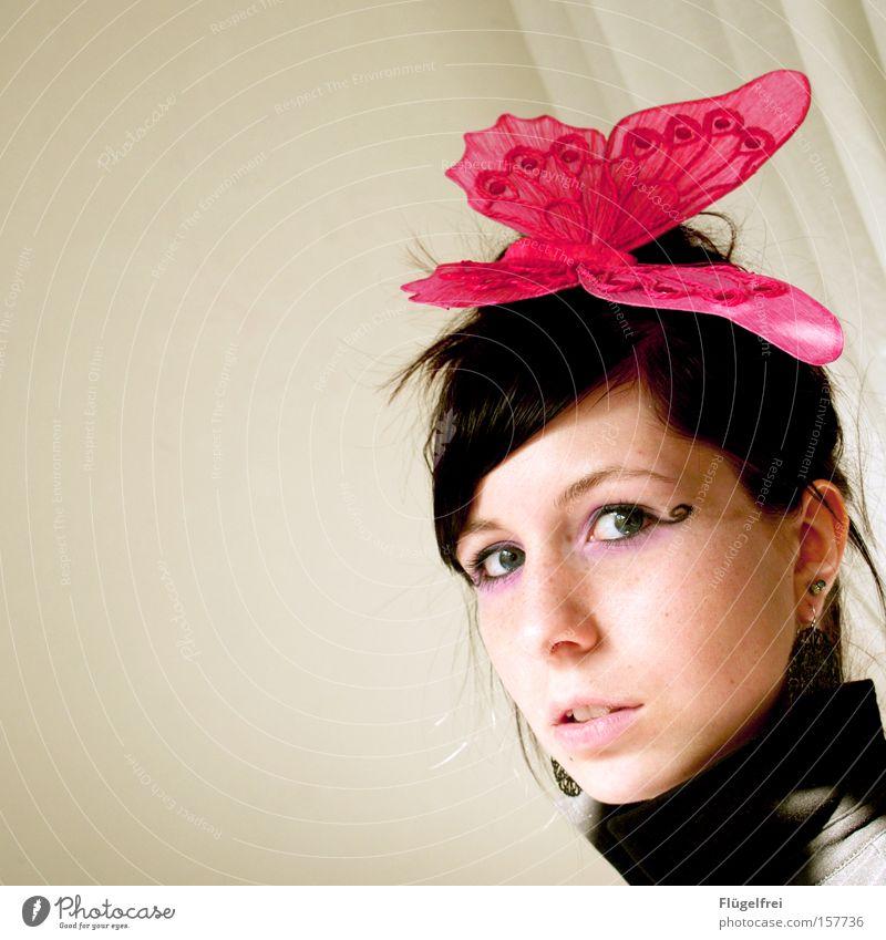 Punktlandung Freiheit Tier Wärme Schmetterling fliegen sitzen rosa falsch Leichtigkeit Fühler Vorhang stechend Sonnenlicht Blick