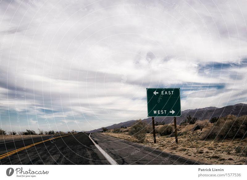 Himmel Natur Ferien & Urlaub & Reisen blau schön Sommer Landschaft Wolken Ferne Berge u. Gebirge Umwelt Straße Wege & Pfade Horizont Wetter Luft