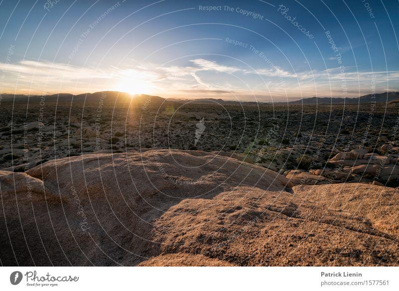 Joshua Tree National Park Himmel Natur Ferien & Urlaub & Reisen blau Sommer schön Sonne Landschaft Wolken Ferne Berge u. Gebirge Umwelt Felsen Horizont Wetter