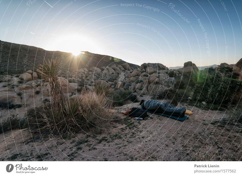 Cowboy Camping schön Ferien & Urlaub & Reisen Abenteuer Ferne Expedition Sommer Sonne Berge u. Gebirge Umwelt Natur Landschaft Pflanze Urelemente Erde Sand