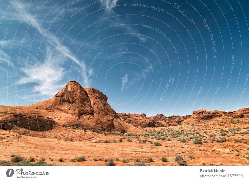 Himmel Natur Ferien & Urlaub & Reisen blau Sommer schön Landschaft rot Wolken Ferne Berge u. Gebirge Umwelt Felsen Horizont Erde Klima