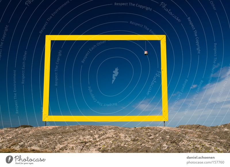 eingerahmt Natur schön Himmel blau gelb Wetter Horizont Rahmen Bilderrahmen