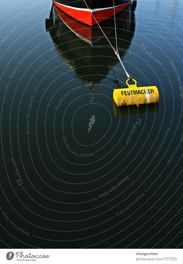 FESTMACHER ruhig Wasserfahrzeug warten Sicherheit Arbeiter Schutz Hafen festhalten Halt geduldig Ausdauer Anker ankern Boje Festmacher