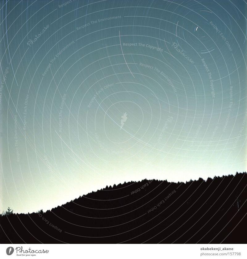 Sterne #4 Nacht Nachthimmel Himmel blau Quadrat Winter Japan schwarz Himmelskörper & Weltall Schererei Sternenhimmel