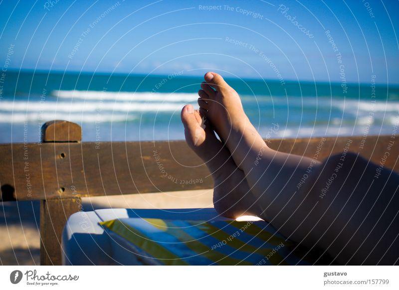 Frau Meer Sommer Leben Fuß Hotel Südamerika Mensch Brasilien Rio de Janeiro Resort aussruhen Recife