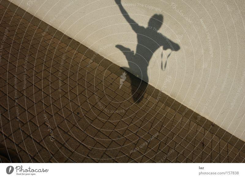 Speed Jump Flyer Schatten springen fliegen anstrengen Kraft Dynamik Mann Nervenkitzel Heidelberg Jugendliche Freiheit Freude Extremsport Zufriedenheit