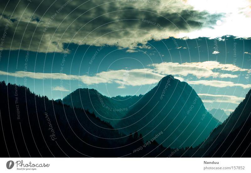 Ewigkeit Natur alt blau Ferien & Urlaub & Reisen Winter Landschaft Berge u. Gebirge Europa Alpen Jahreszeiten Bayern Österreich abgelegen