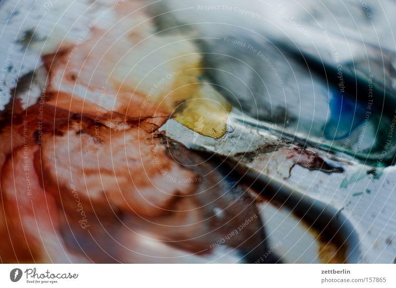 Aquarell Farbe Farbstoff Kunst Spuren Freizeit & Hobby Kultur Druckerzeugnisse Gemälde mischen Farbstift spektral Farbenspiel Farbkasten Farbkarte
