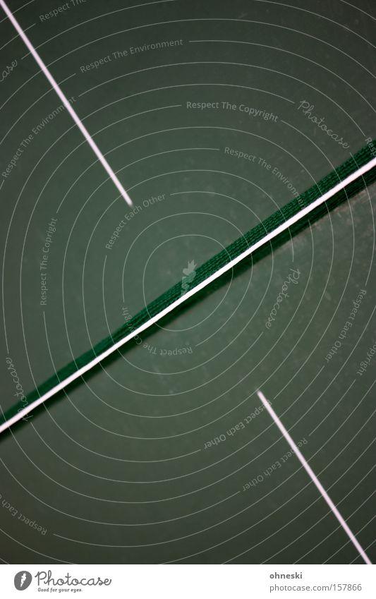 Tischtennisplattenkreuzung Netz Spielen Sport graphisch Strukturen & Formen Ordnung diagonal Kreuz Linie Freizeit & Hobby Ballsport Mischung Rundlauf