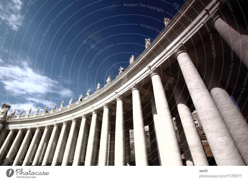 Säulendiagramm Himmel Ferien & Urlaub & Reisen Stadt blau weiß Wolken Religion & Glaube Tourismus Platz Italien Schönes Wetter historisch Wahrzeichen Hauptstadt