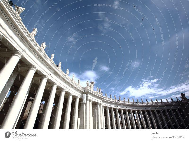 Säulen vor die Päpste werfen Ferien & Urlaub & Reisen Tourismus Sightseeing Städtereise Himmel Wolken Schönes Wetter Rom Vatikan Italien Stadt Hauptstadt