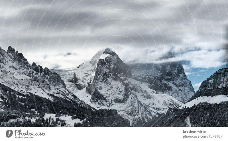 time is endless Himmel Natur blau Baum Landschaft Wolken Winter Berge u. Gebirge Umwelt grau Felsen wandern Hügel Urelemente Gipfel Alpen