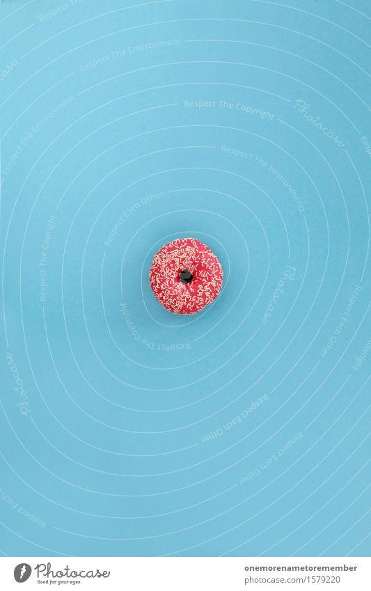 Doonut Kunst Kunstwerk ästhetisch rosa blau Krapfen Zucker Zuckerguß Zuckerfabrik Zuckerstreusel lecker ungesund Kalorie Kalorienreich Kontrast Farbfoto