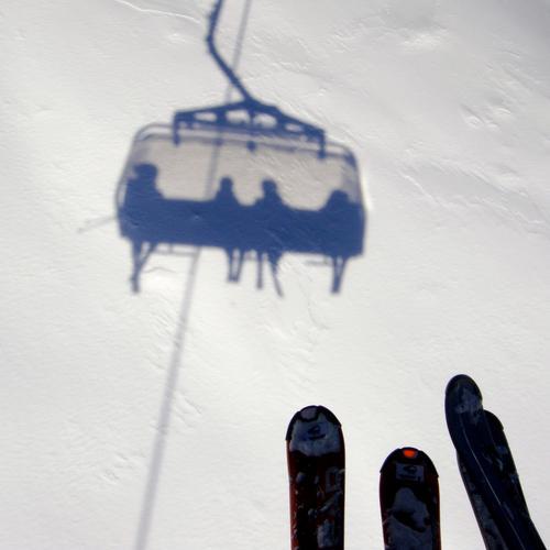 on AIR Mensch weiß Winter Schnee Berge u. Gebirge Luft Skifahren Skier Österreich Wintersport Höhe Skilift Sesselbahn Skigebiet Neuschnee