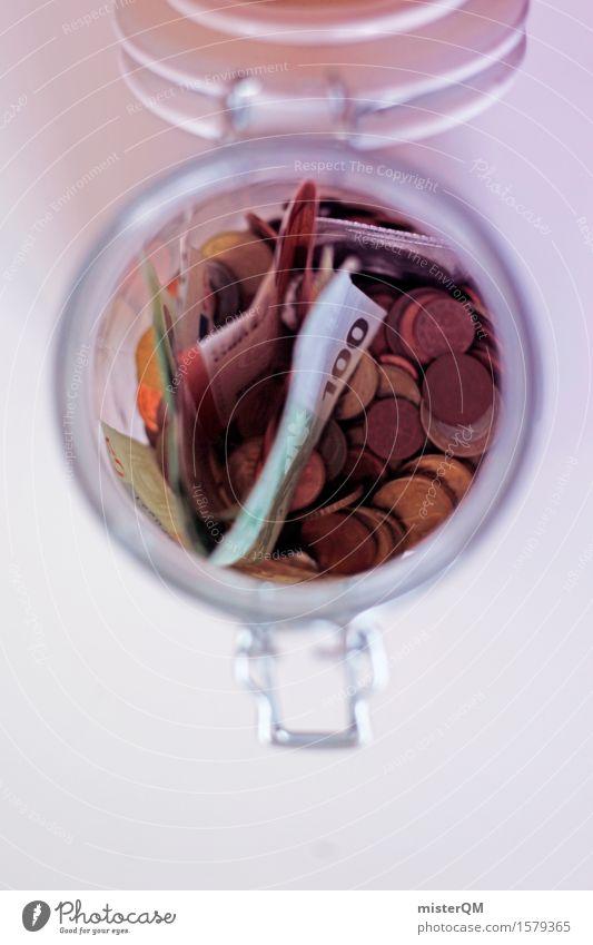 erspar mir das Geld sparen Kapitalwirtschaft Business Kapitalismus Kapitalanlage Notfall Euro Europa Eurozeichen Euroschein 100 Geldscheine Schatz Schatztruhe