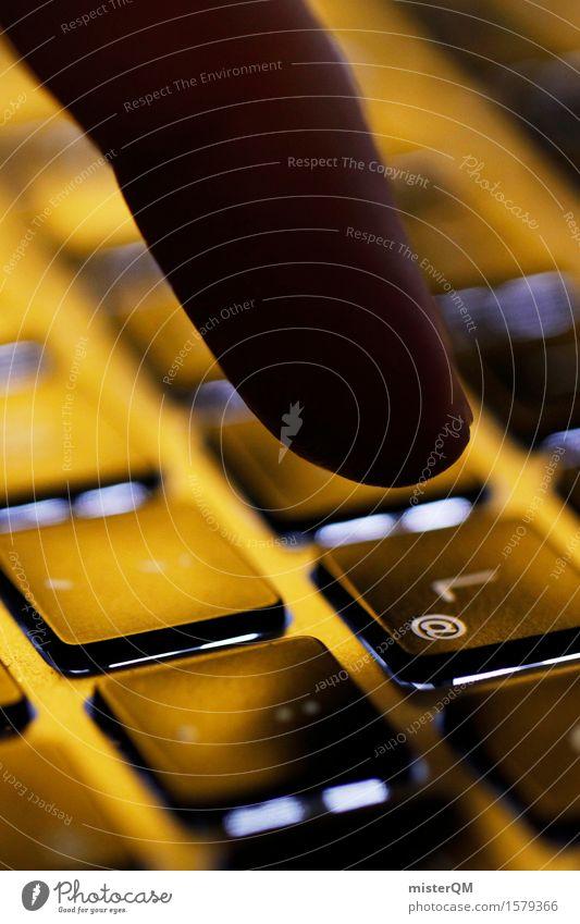 Tastatur Hacker. Kunst ästhetisch Klaviatur Tastaturkurzbefehl Finger Internet Tippen Telekommunikation online Onlineshop Farbfoto Gedeckte Farben Innenaufnahme