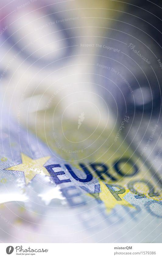 Wässriger Euro II Kunst Kunstwerk ästhetisch Design Eurozeichen Euroschein Geld Geldinstitut Geldscheine Finanzkrise Geldgeschenk Geldverkehr Krise