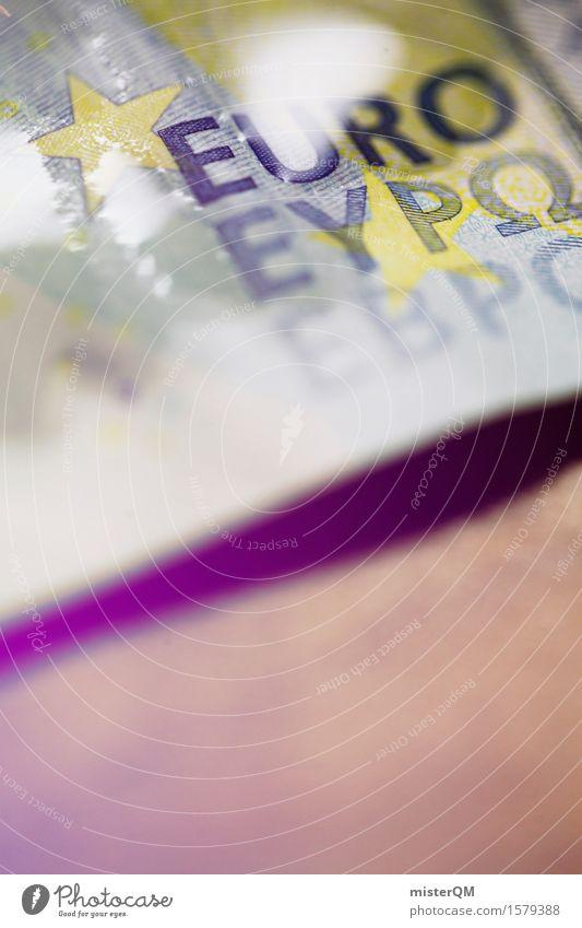 Wässriger Euro I Kunst Kunstwerk ästhetisch Geld Geldinstitut Bankkapital Bankkaufmann Geldscheine Geldnot Geldgeschenk Geldkapital Geldgeber Geldverkehr