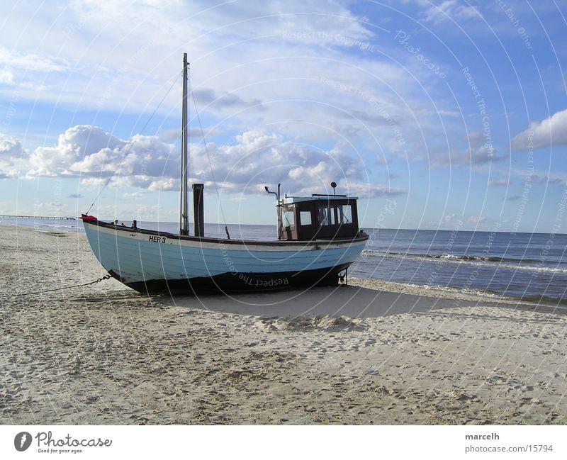 an der Ostsee v.3 Meer Strand Sand Wasserfahrzeug Europa Fischereiwirtschaft Fischerboot