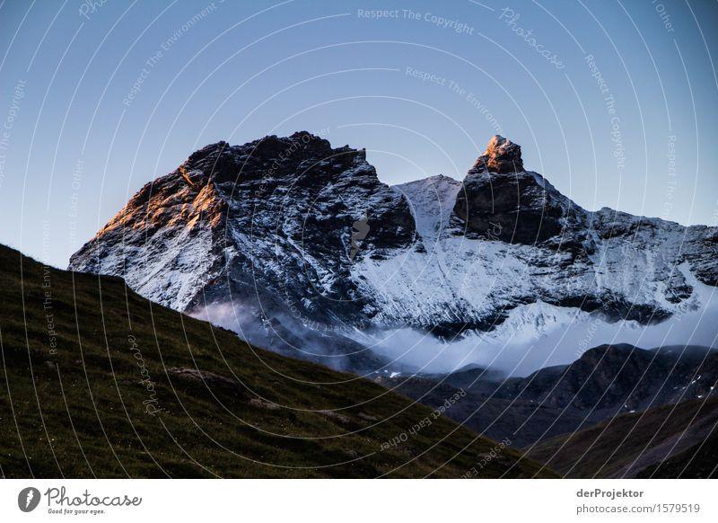 Goldene Bergspitzen in Savoyen Natur Ferien & Urlaub & Reisen Pflanze Sommer Landschaft Tier Freude Ferne Berge u. Gebirge Umwelt Schnee Glück Freiheit Felsen