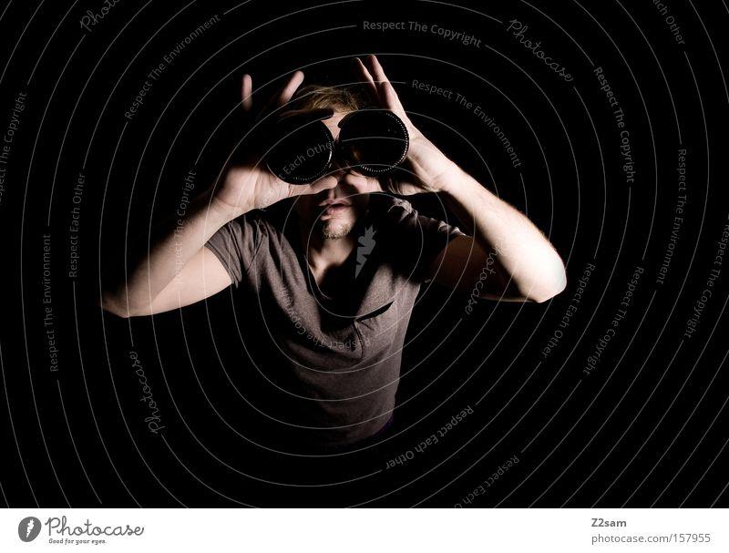 DURCHBLICK Mensch Mann Stil glänzend Durchblick Teleskop Vorschau