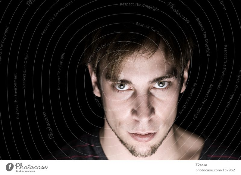 ich Mensch Mann Natur Gesicht Kraft Kraft maskulin Selbstportrait Porträt Charakter