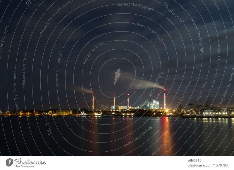 Kraftwerk und Hafen Amager in Kopenhagen, Dänemark Industrie Stadt Schornstein Energie Umweltverschmutzung Wasser regenerativ Dunst Emission Trichter Station