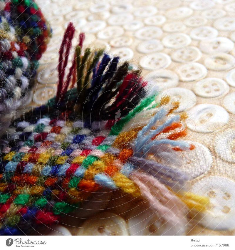 buntes Nähzeug Kurzwaren Nähen Handwerk Nähgarn stopfen Reparatur Schneider Haushalt Knöpfe mehrfarbig Handarbeit flicken Helgi Farbe